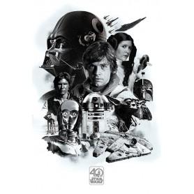 Poster 40° Anniversario Star Wars