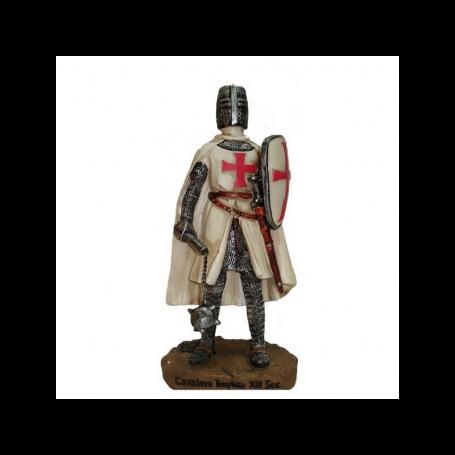 Cavaliere Templare con Mazza e Scudo-12 cm