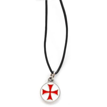 Ciondolo Templare Croce Rossa