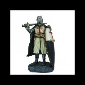 Cavaliere Templare con Spada e Scudo-20 cm