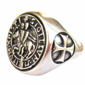Anello Sigillo Templare in Argento