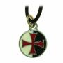 Ciondolo Templare sfondo bianco e nero