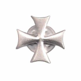 Spilla Croce Templare in Argento