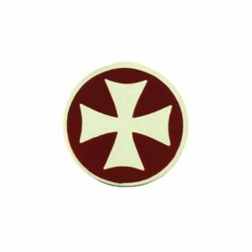 Ciondolo Cavalieri di Malta in Argento smaltati in rosso