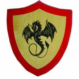 Scudo in legno con dragone