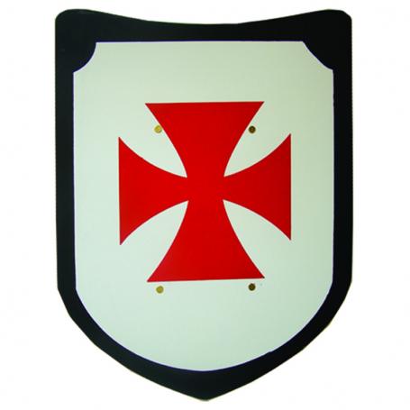 Scudo in legno con Croce Templare